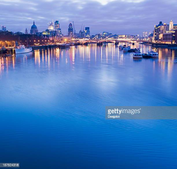 London City Skyline and River Thames in London UK