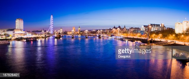 London City Skyline and River Thames UK