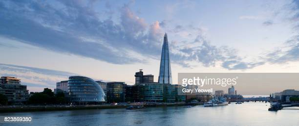 London city skyline and Shard