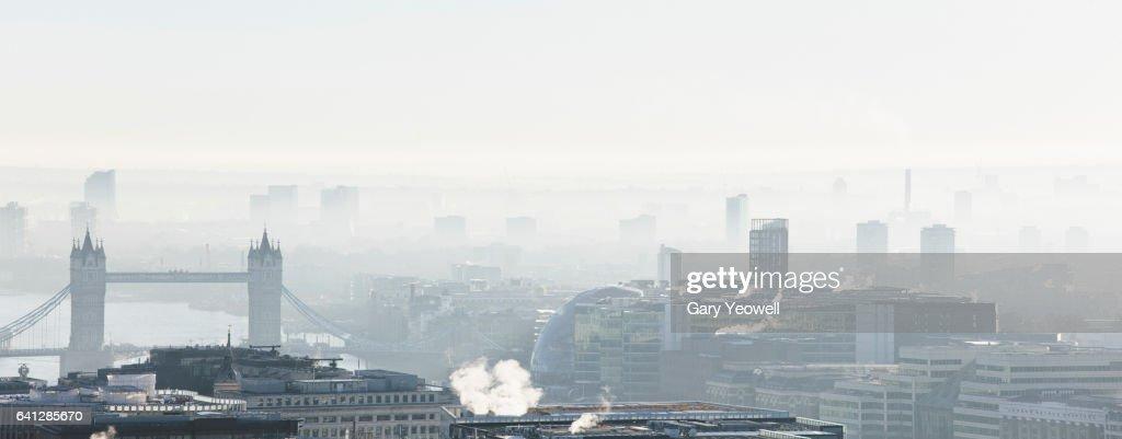 London city skyline by Tower Bridge : Stock Photo