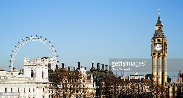 London city skyline by Westminster