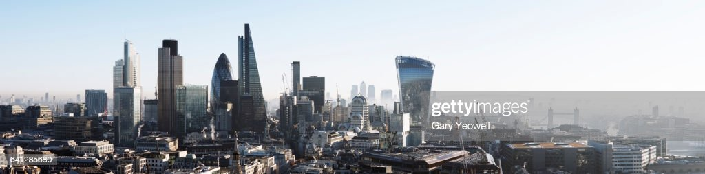 London city skyline panorama : Stock-Foto