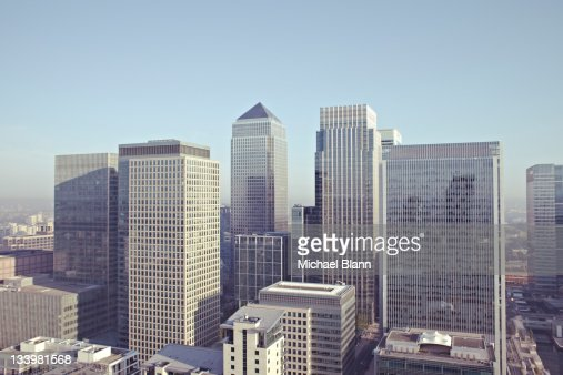 London City View including Canary Wharf : Stock Photo