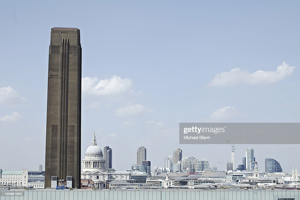 London City View with St. Paul's Cathedral : Stock Photo