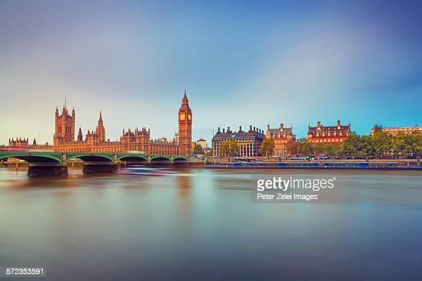 London cityscape at sunrise