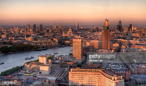 London cityscape at sunset