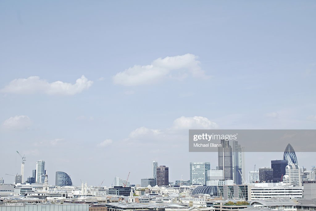 London Cityscape including the Guerkin : Stock Photo