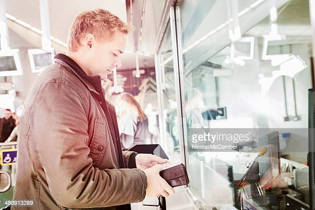 London commuter buying overground tickets