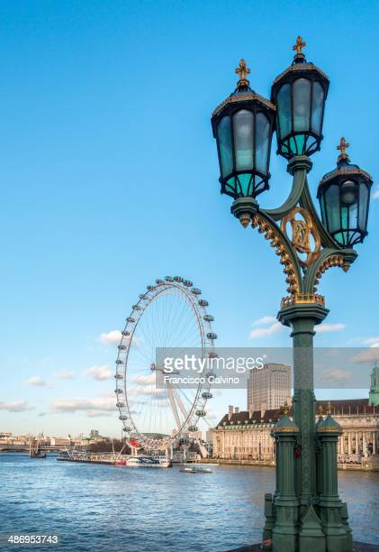 London County Hall and London Eye viewed from Westminster bridge England United Kingdom