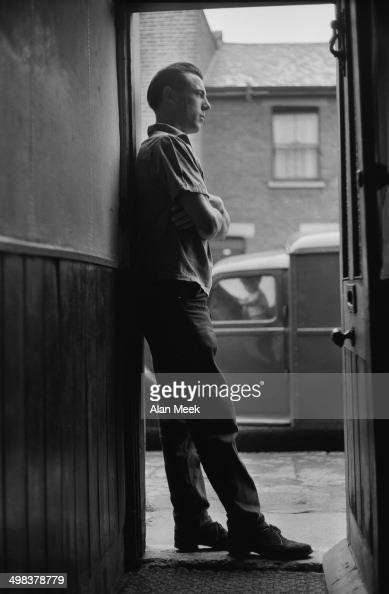 London docker John Turner who has begun a new career as a model for a shirt manufacturer London UK 5th August 1958