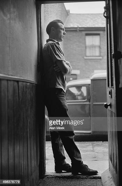 London docker John Turner who has begun a new career as a model for a shirt manufacturer London UK 5th August 1958