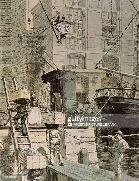 London docks engraving England 19th century Paris Bibliothèque Des Arts Decoratifs