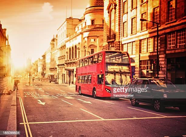 London Double Decker bus on urban centre