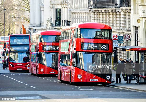 London double decker red buses