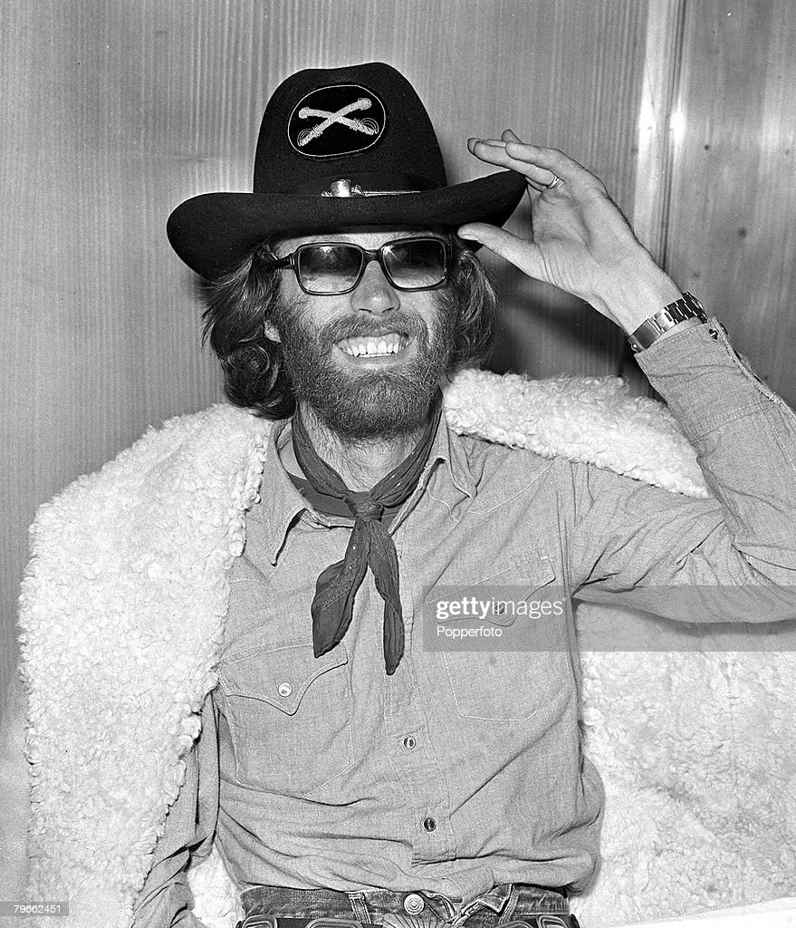 London England 12th January 1971 American actor Peter Fonda is pictured wearing a Confederates hat