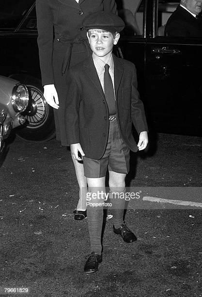 London England 15th September 1971 Prince Edward the 7 year old youngest son of Queen Elizabeth II is pictured arriving for school in London's...