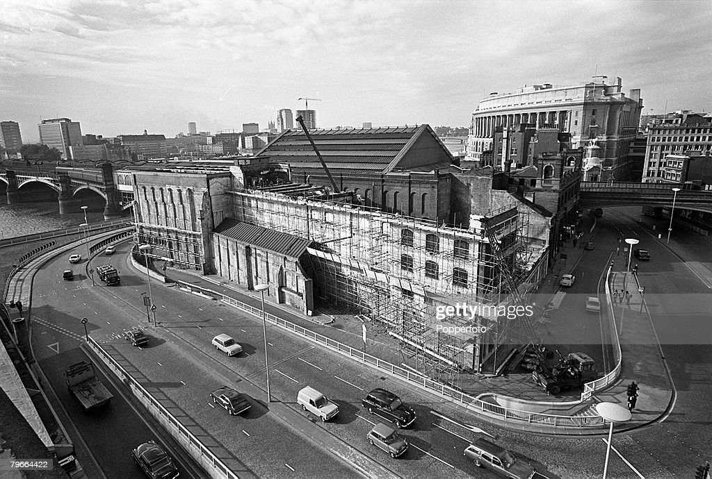 London England 20th October 1971 Britain+s first ever cold storage centre built in 1880 being demolished at Blackfriars Station to make way for a modern ... & London England 20th October 1971 Britain+s first ever cold ...
