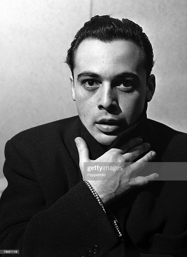 London, England, 9 February 1940, An early portrait of actor Herbert Lom during his time at Westminster School of Acting, Herbert takes part in an excercise to express particular emotions to the audience through facial expression -in this case 'Fear'