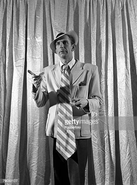 London England British actor and comedian Arthur English is pictured dressed as a 'spiv'