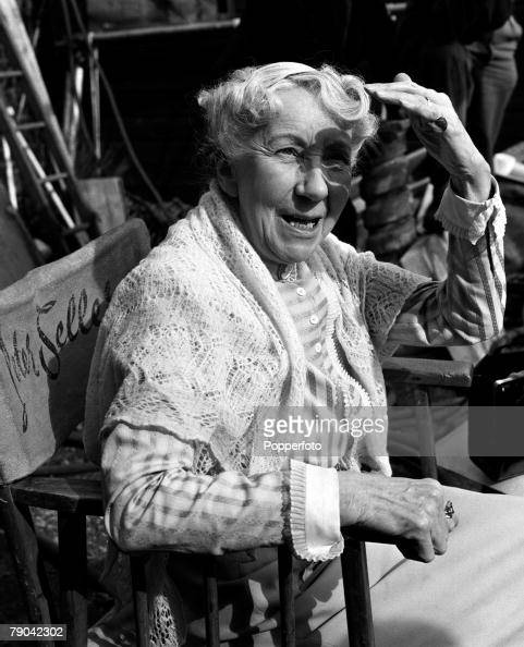 London England British actress Katie Johnson is pictured on the set of the film 'The Ladykillers'