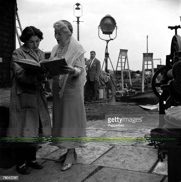 London England British actress Katie Johnson is pictured reading her lines on the set of the film 'The Ladykillers'