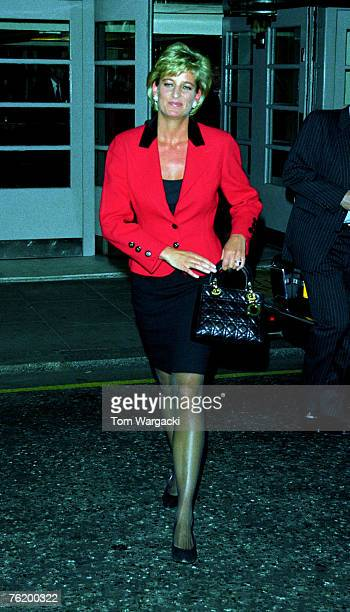 London England January 1996 Princess Diana at the Savoy hotel for childrens charity Childline