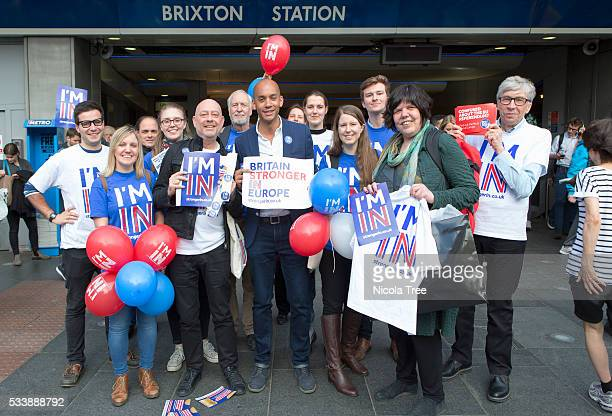 London England May 20th 2016 Labour MP Chuka Umunna campaigning at Brixton tube station for the IN Campaign in the EU referendum