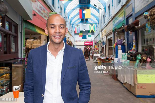 London England May 20th 2016 Labour MP Chuka Umunna campaigning in constituency for the Brexit IN Campaign