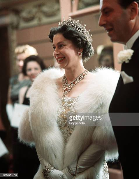 London England Queen Elizabeth II is pictured at the Royal Variety Performance