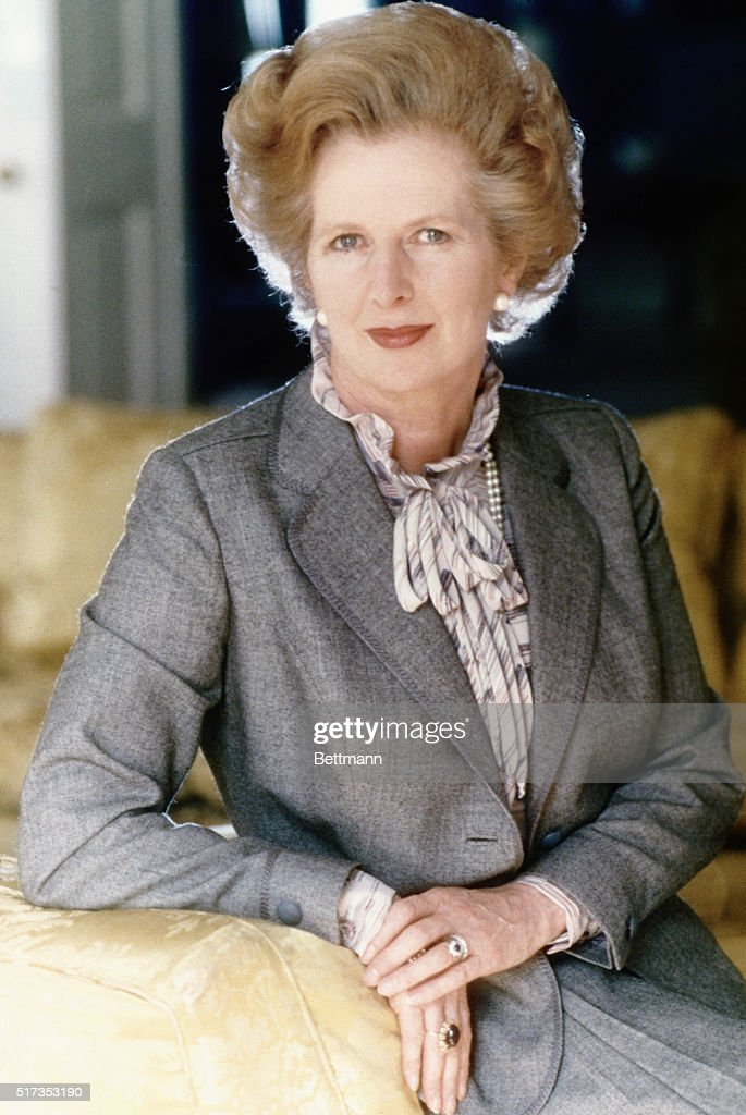1983- London, England- The Rt. Honarable <a gi-track='captionPersonalityLinkClicked' href=/galleries/search?phrase=Margaret+Thatcher&family=editorial&specificpeople=159677 ng-click='$event.stopPropagation()'>Margaret Thatcher</a> is the Prime Minister, First Lord of the Treasury and Conservative Member of Parliament for Finchely, Burnet. She seated alone.