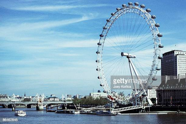 London Eye and Thames River, London, England