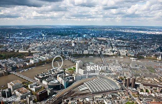 London Eye and Waterloo station