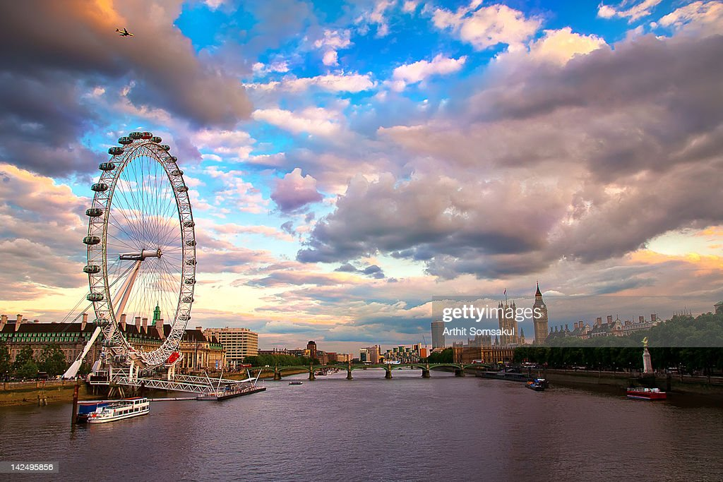 London Eye Evening