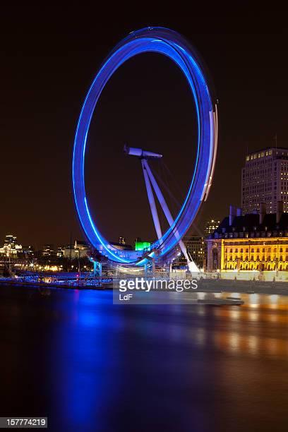 London Eye long exposure at night