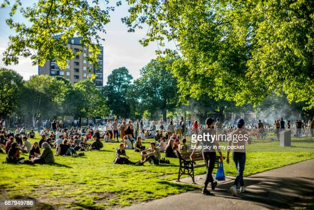 London Fields barbecue area.