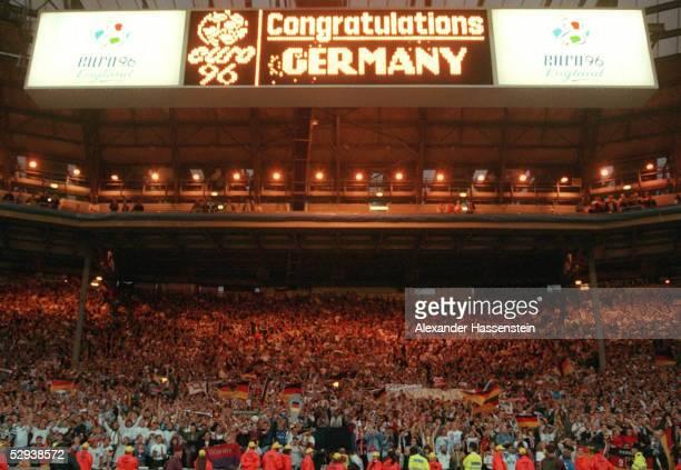 EURO 1996 London FINALE DEUTSCHLAND TSCHECHIEN 21 JUBEL GER FANS
