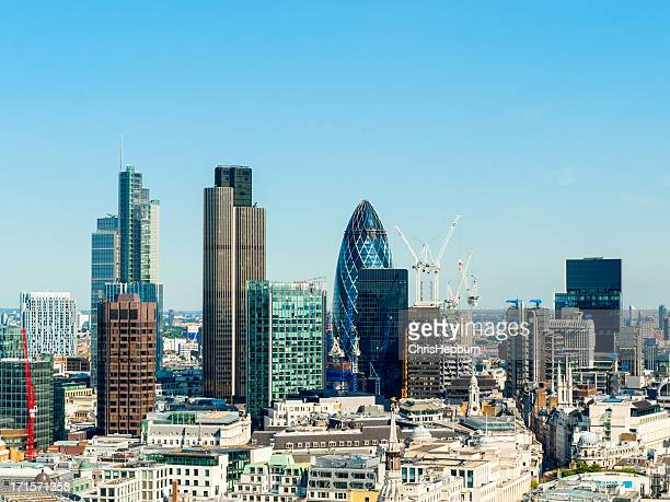 London Financial District Cityscape, England