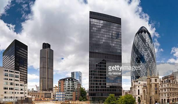 London financial district corporate skyscrapers
