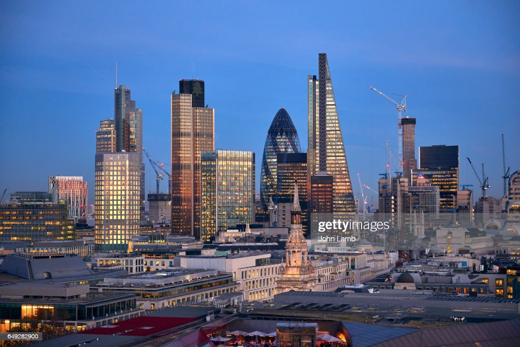 London Financial district : Bildbanksbilder