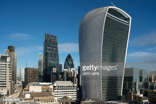 London financial district skyline with Walkie Talkie building. : Stock Photo