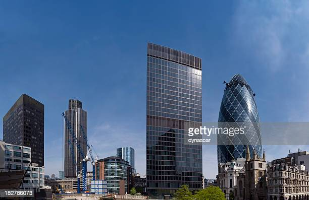 London financial district skyscrapers