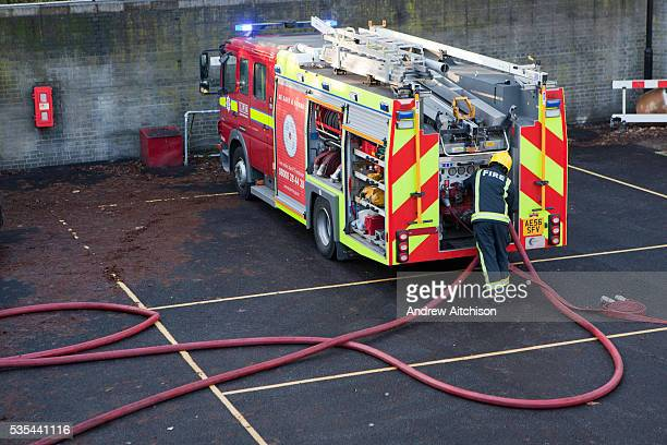 UK - Emergency services - Fire Service training session
