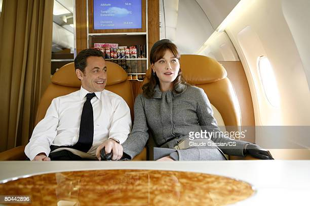 French First Lady Carla BruniSarkozy poses during Uk State Visit in London on march 26 2008