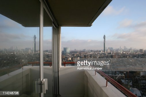 London from the Balcony of a Penthouse flat