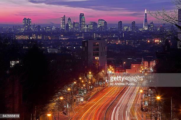 London from the Hornsey Lane Bridge