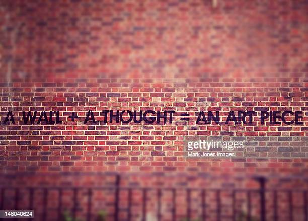 London Graffiti. A wall + A thought = An art piece