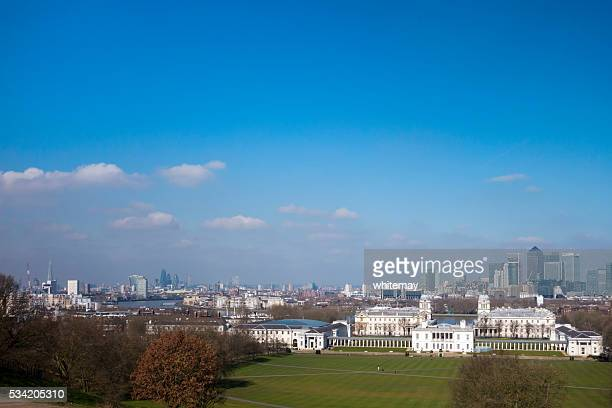 London, Greenwich, Canary Wharf and the River Thames