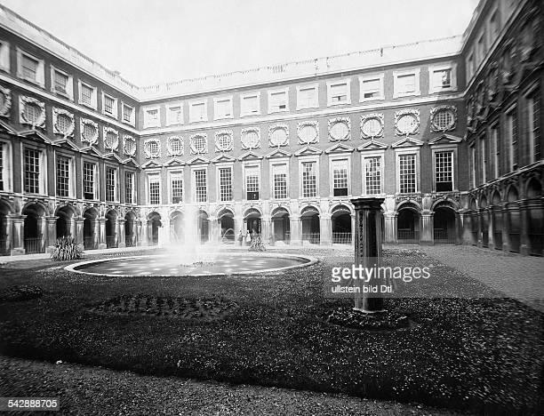 Hampton Court Palace The Fountain Court around 1910