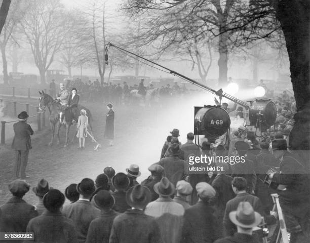 London Hyde park shooting of a scene for the film Little Friend by director Berthold Viertel