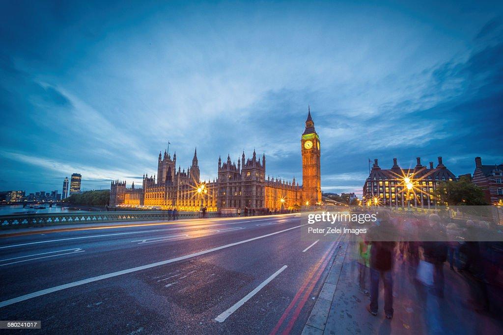 London in the night : Stock Photo